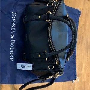Small black Dooney and Burke Florentine satchel
